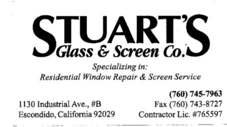 Stuart's Glass and Screen Co.