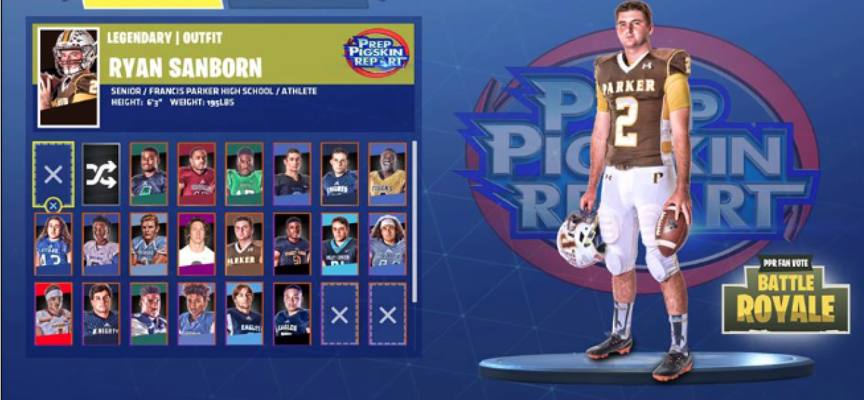 Vote Ryan Sanborn Onto the Silver Pigskin Final Podium!