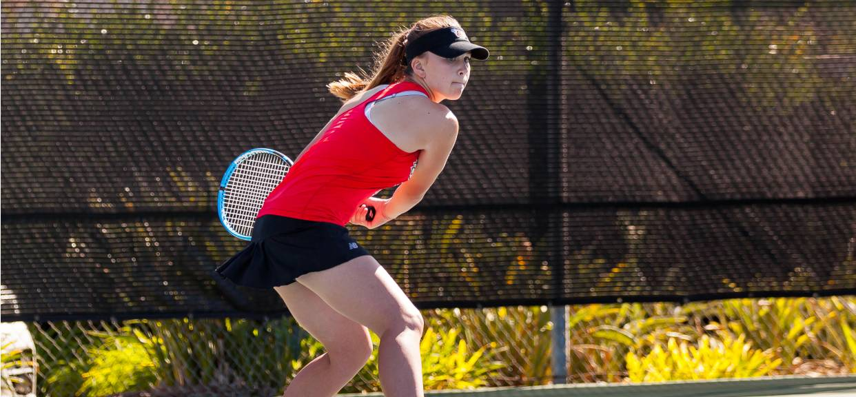 Women's Tennis Soars in Doubles Play