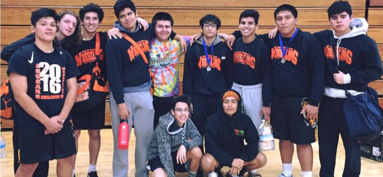 Grapplers at the Marauder Invite